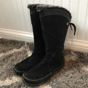 North Face Janey Black Suede Back Lace Boots